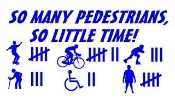 So Many Pedestrians So Little Time Decal Sticker