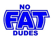 No Fat Dudes Decal Sticker