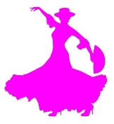 Flamenco Dancer Woman v2 Decal Sticker