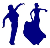 Flamenco Dancers v3 Decal Sticker