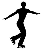 Ice Skater Silhouette 4 Decal Sticker