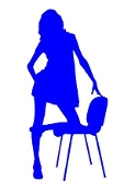 Girl on Chair 1 Decal Sticker