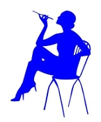 Girl on Chair 6 Decal Sticker
