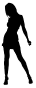 Sexy Girl Silhouette v7 Decal Sticker