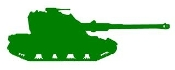 Army Tank Silhouette v1 Decal Sticker