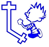 Calvin Praying v3 Decal Sticker