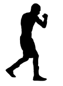 Boxing Silhouette 5 Decal Sticker