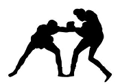 Boxing Silhouette 7 Decal Sticker