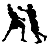 Boxing Silhouette 8 Decal Sticker