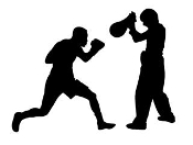 Boxing Silhouette 10 Decal Sticker