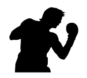 Boxing Silhouette 2 Decal Sticker