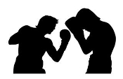 Boxing Silhouette 3 Decal Sticker