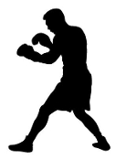 Boxing Silhouette 4 Decal Sticker
