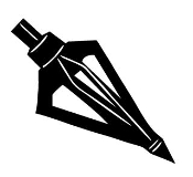 Broadhead Arrow Point Decal Sticker