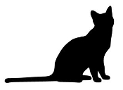 Cat Silhouette v13 Decal Sticker