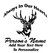 Memorial with Deer 2 Decal Sticker