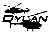 Personalized Name with Helicopters Decal Sticker