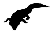 Alligator Silhouette 4 Decal Sticker