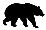 Bear Silhouette v4 Decal Sticker