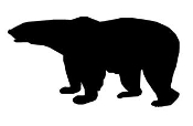 Bear Silhouette v5 Decal Sticker