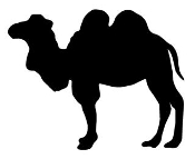 Camel Silhouette v7 Decal Sticker