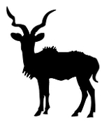 Antelope Silhouette v4 Decal Sticker