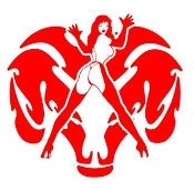 Dodge Girl v8 Decal Sticker