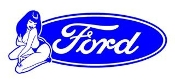 Ford Girl v8 Decal Sticker