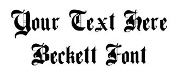 Beckett Font Decal Sticker