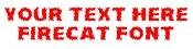Firecat Font Decal Sticker