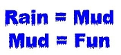 Mud equals Fun Decal Sticker
