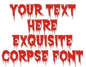 Exquisite Corpse Font Decal Sticker