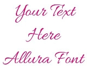Allura Font Decal Sticker