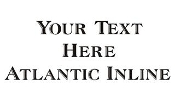 Atlantic Inline Font Decal Sticker