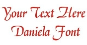 Daniela Font Decal Sticker