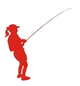 Girl Fishing Silhouette Decal Sticker
