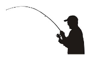 Fisherman Silhouette 3 Decal Sticker