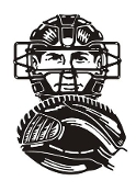 Baseball Catcher Decal Sticker