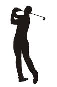 Golfer Silhouette v10  Decal Sticker