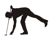 Golfer Silhouette v11  Decal Sticker