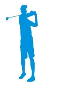 Golfer Silhouette v12  Decal Sticker