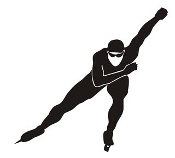 Speed Skater Silhouette 2 Decal Sticker