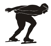 Speed Skater Silhouette 4 Decal Sticker
