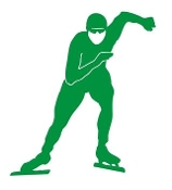 Speed Skater Silhouette 6 Decal Sticker