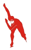 Speed Skater Silhouette 8 Decal Sticker