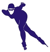 Speed Skater Silhouette 10 Decal Sticker