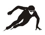 Speed Skater Silhouette 11 Decal Sticker