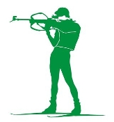 Biathlon Ski Silhouette v3 Decal Sticker
