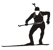 Biathlon Ski Silhouette v6 Decal Sticker
