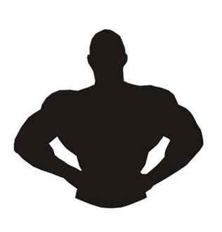 Bodybuilder Silhouette 5 Decal Sticker